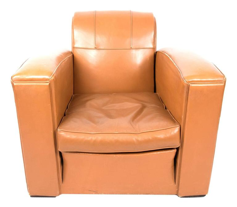 Art Deco Leather Armchairs For Sale at 1stdibs