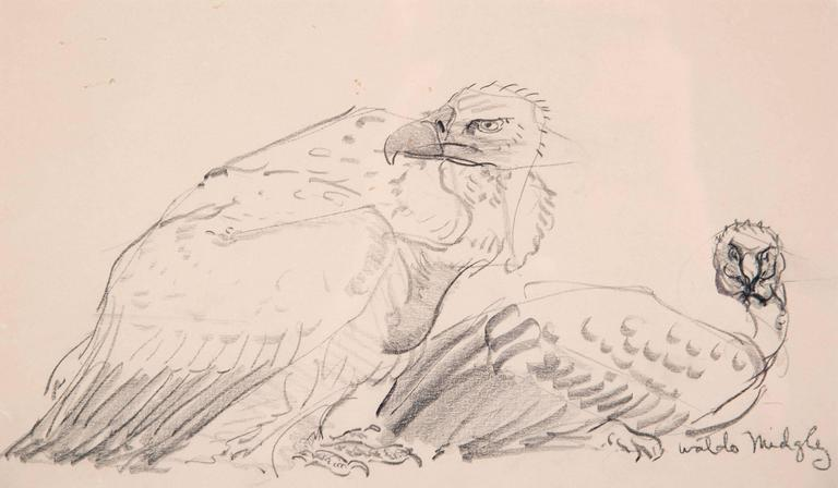 Post-Modern Two Vultures by Waldo Midgley, 1993 For Sale
