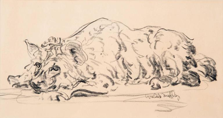 A hyena study, signed bottom right