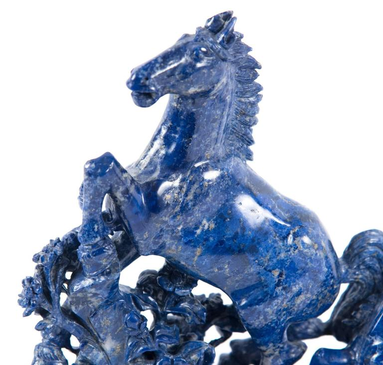 19th Century Blue Marble Horse Sculpture For Sale 2
