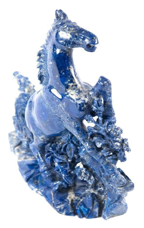 19th Century Blue Marble Horse Sculpture For Sale 1