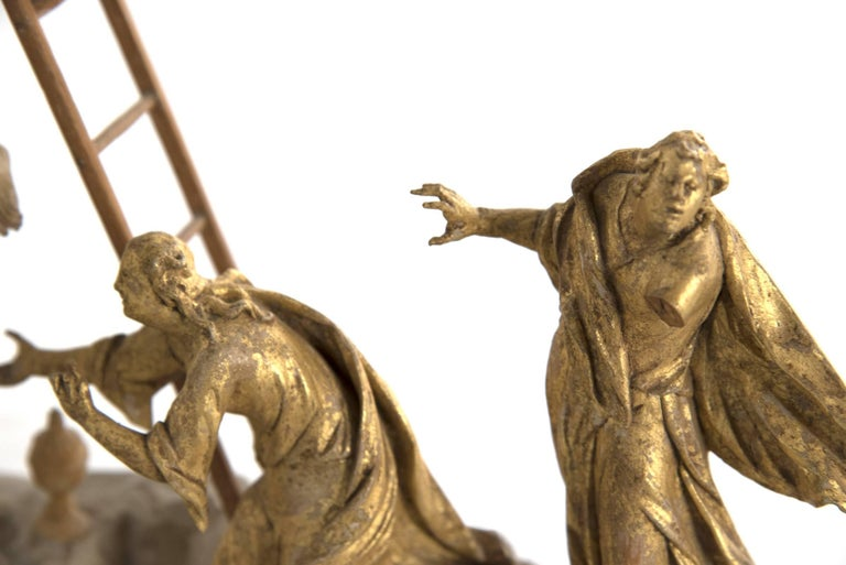 American Set of Wood and Gold Leaf Crucifixion Sculptures For Sale