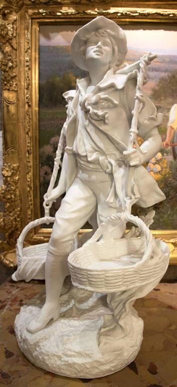 The Young Harvester Bisque Porcelain Statue by EB Quinter For Sale 2