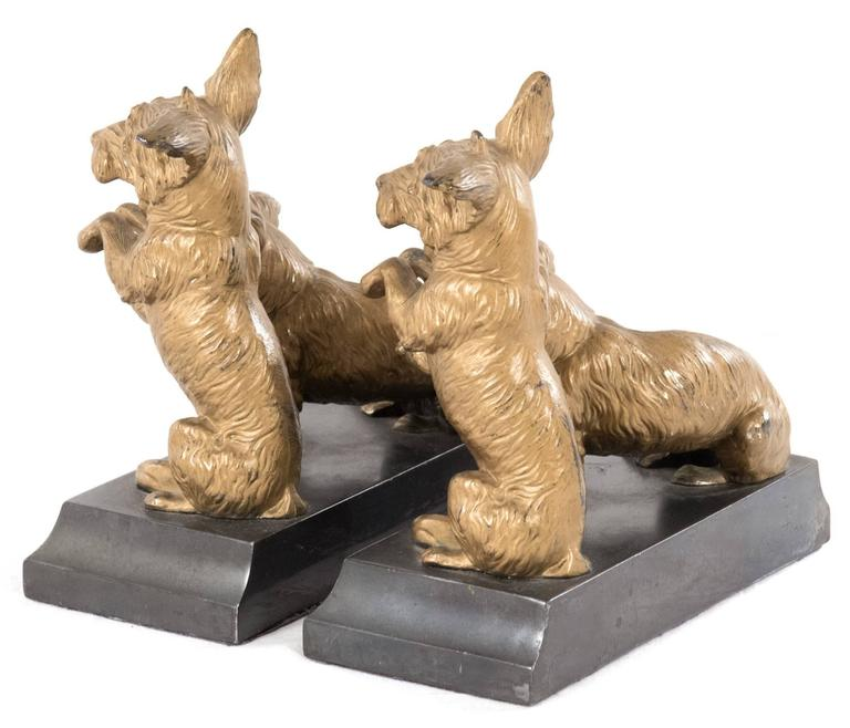 Gilt Bronze Mounted Corgi Bookends 3