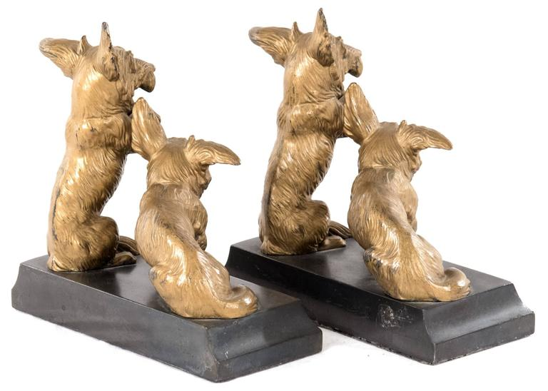 Gilt Bronze Mounted Corgi Bookends 2