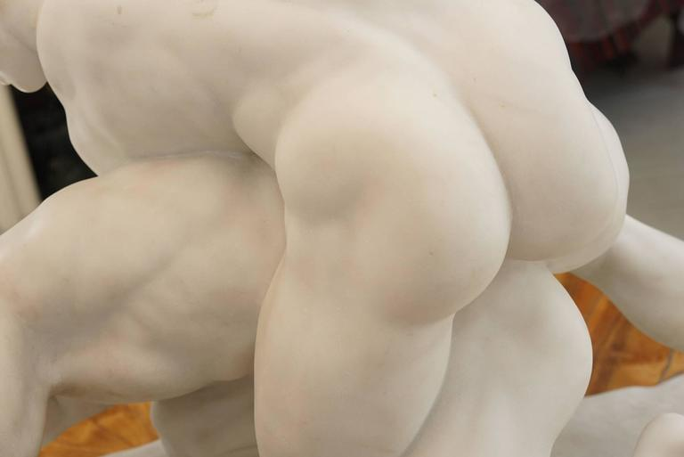 Statuary Marble Grand Tour Marble Group of The Pancrastinae or Wrestlers For Sale