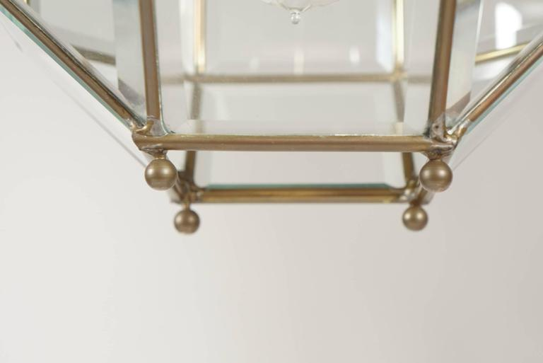 Leaded and Beveled Glass Pendant Light Attributed to Adolf Loos, circa 1905 In Excellent Condition For Sale In Kinderhook, NY