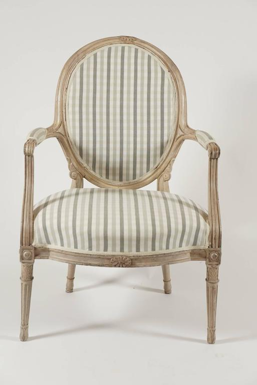 Louis XVI Fauteuil in Original Paint, circa 1790 For Sale at 1stdibs