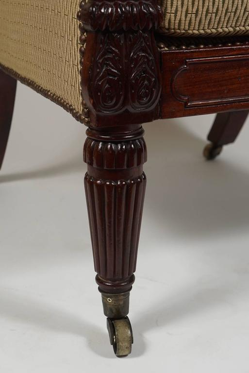 George III English Regency Mahogany Bergere or Armchair, circa 1815 For Sale 1
