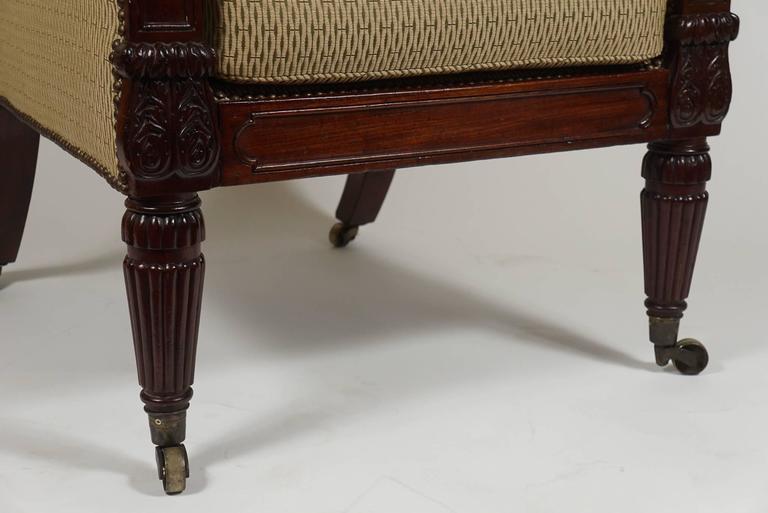 George III English Regency Mahogany Bergere or Armchair, circa 1815 For Sale 3