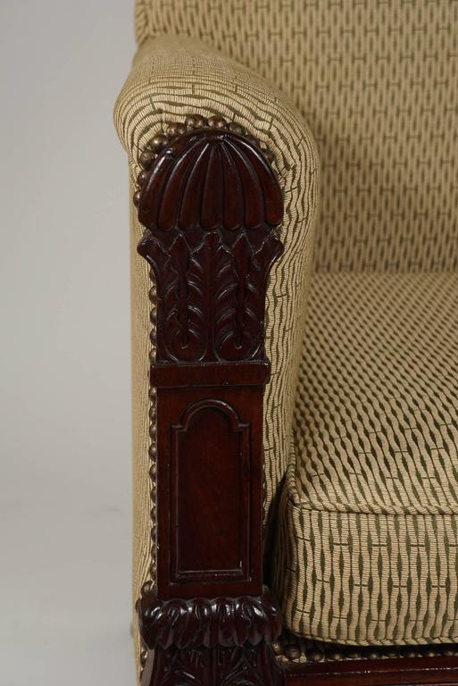 George III English Regency Mahogany Bergere or Armchair, circa 1815 For Sale 4