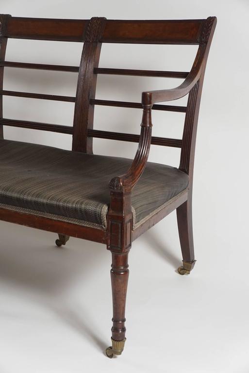 English Mahogany Settee, England, circa 1795 For Sale