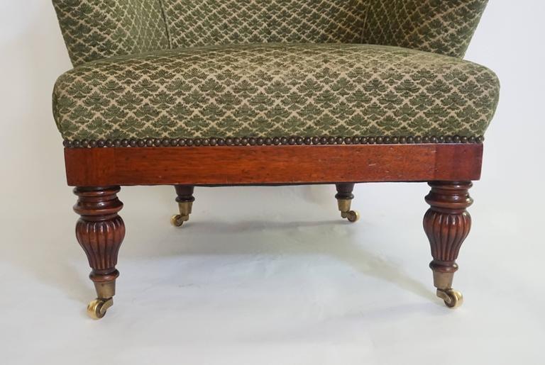 19th Century English Regency Tub or Club Chair, circa 1830 For Sale