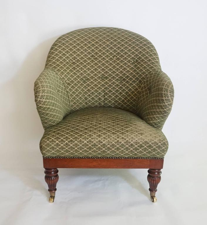 English Regency Tub or Club Chair, circa 1830 In Excellent Condition For Sale In Kinderhook, NY