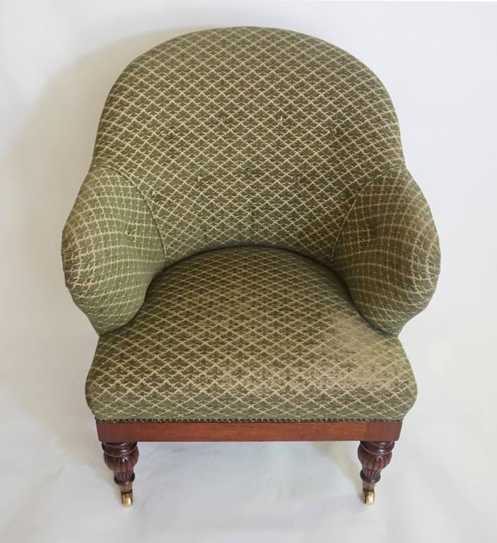 English Regency Tub or Club Chair, circa 1830 For Sale 5