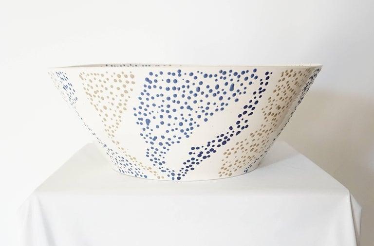 "Large Roy Hamilton ""Faux Marble"" Ceramic Bowl, circa 1980 3"