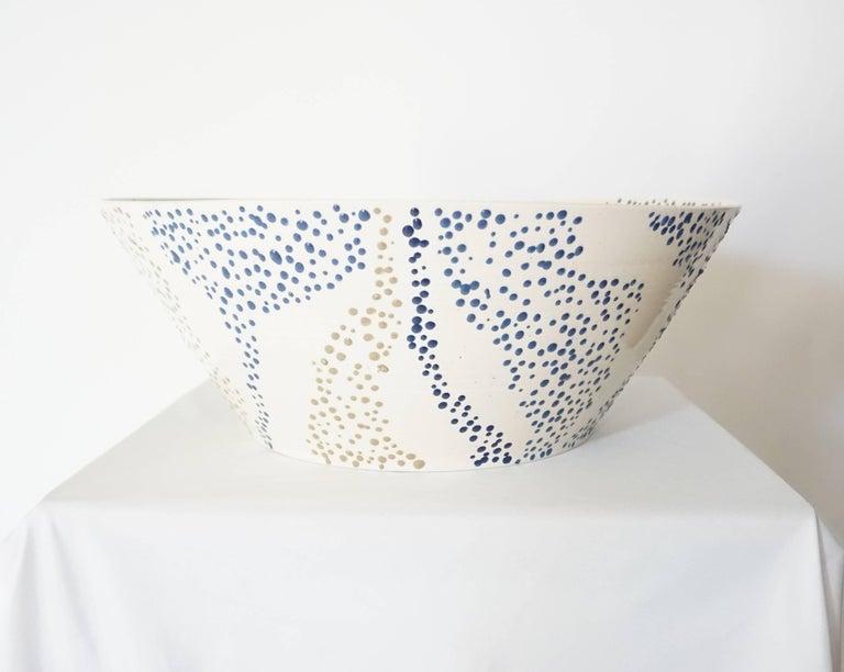 "Large Roy Hamilton ""Faux Marble"" Ceramic Bowl, circa 1980 2"