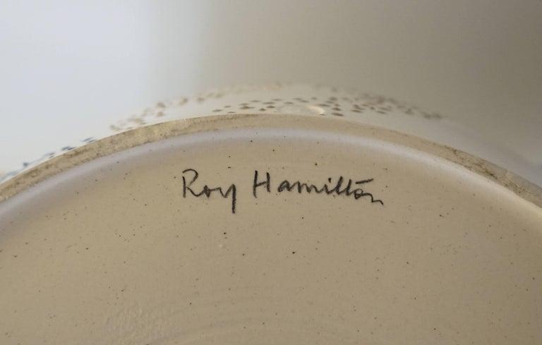 "Large Roy Hamilton ""Faux Marble"" Ceramic Bowl, circa 1980 6"