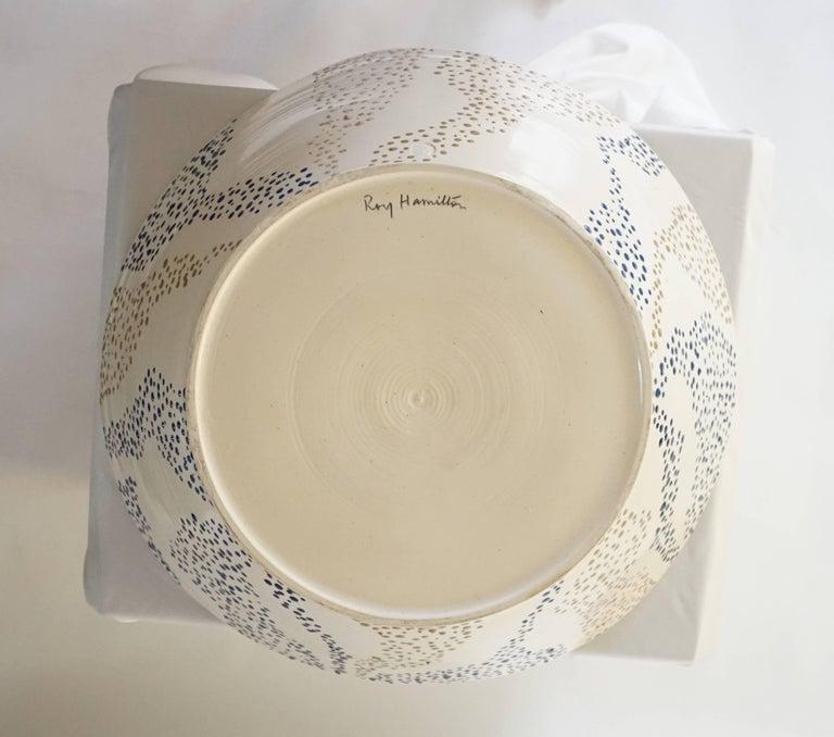 "Large Roy Hamilton ""Faux Marble"" Ceramic Bowl, circa 1980 8"