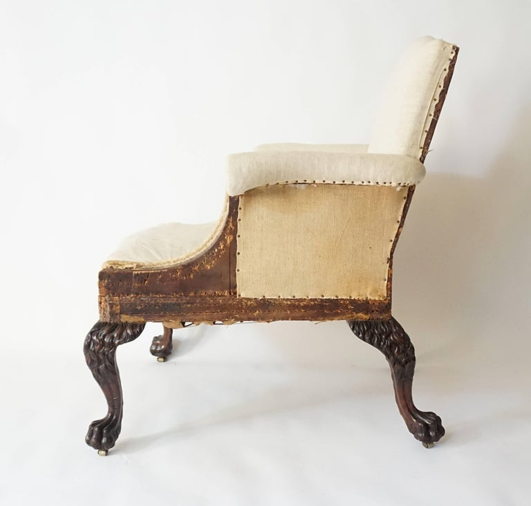 Carved George II Style Armchair by Lenygon & Company For Sale