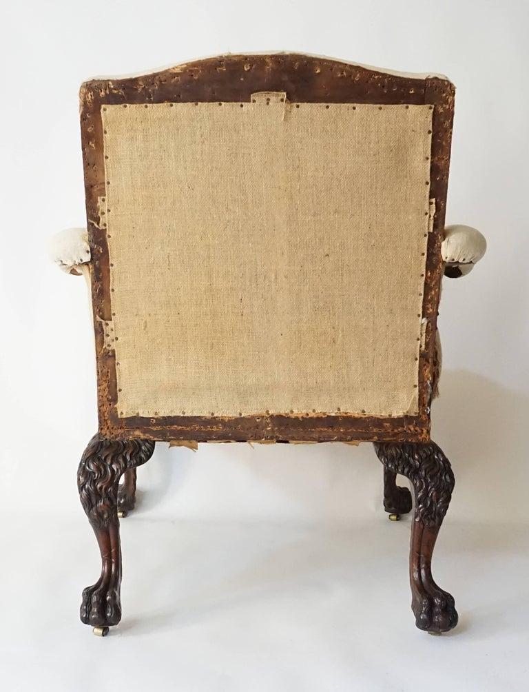 George II Style Armchair by Lenygon & Company In Good Condition For Sale In Kinderhook, NY