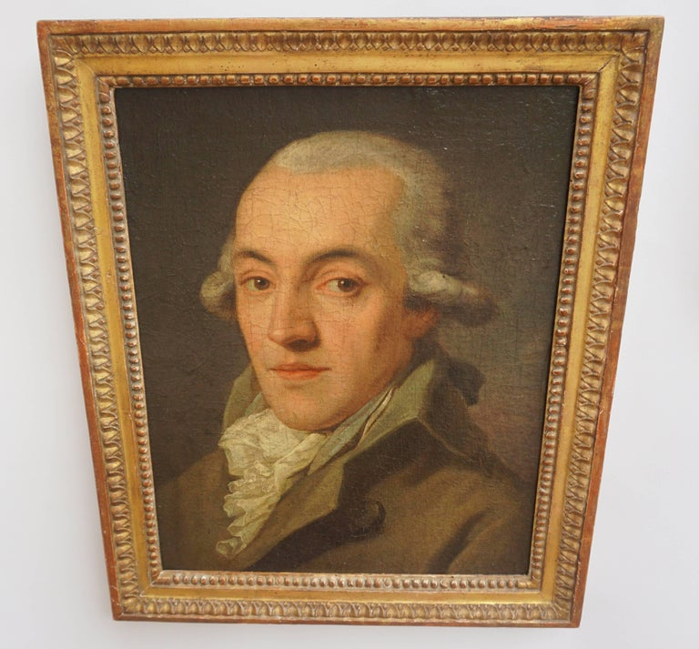 Portrait Painting of a Bewigged Gentleman, Prague, circa 1780 For Sale 2