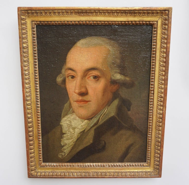 Portrait Painting of a Bewigged Gentleman, Prague, circa 1780 For Sale 1