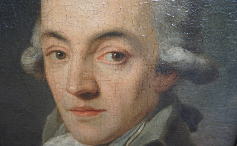 Austrian Portrait Painting of a Bewigged Gentleman, Prague, circa 1780 For Sale