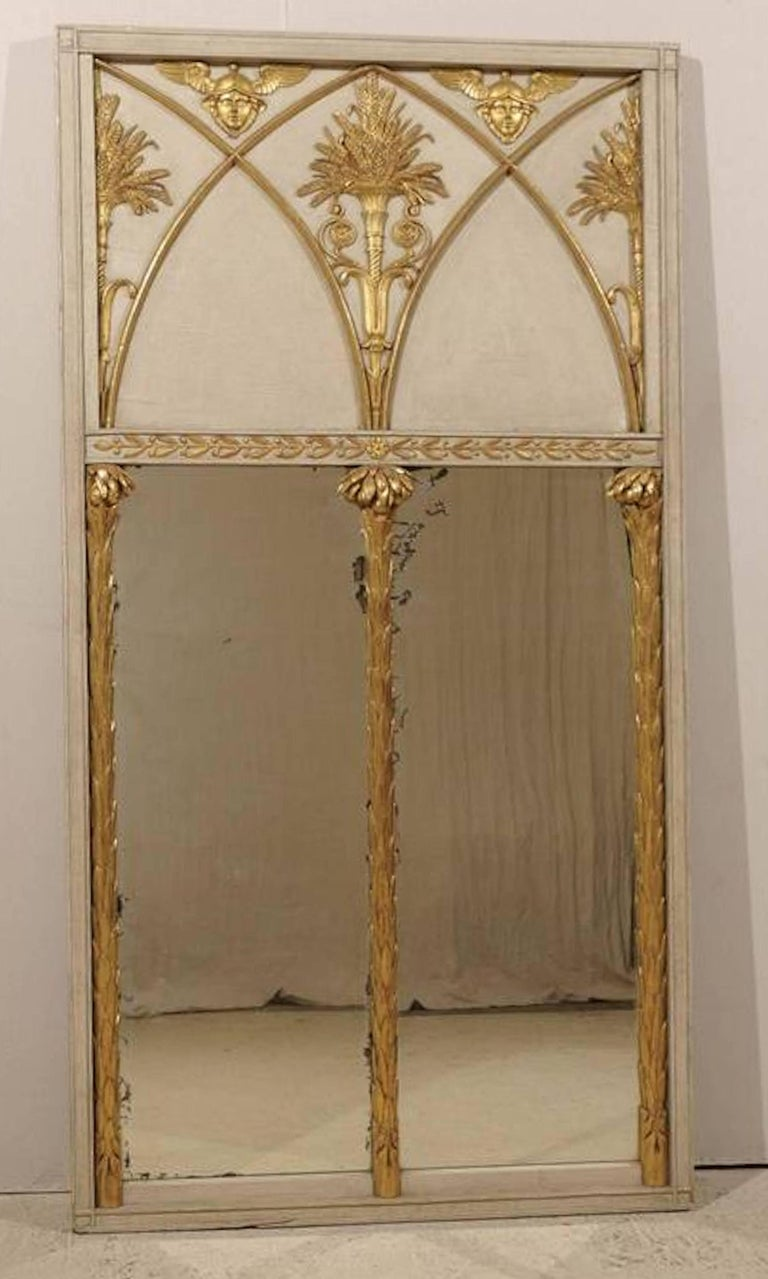 Exceptional French Directoire Trumeau Mirror of Monumental Scale, circa 1800 2
