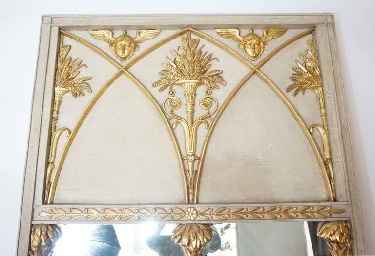 Exceptional French Directoire Trumeau Mirror of Monumental Scale, circa 1800 3