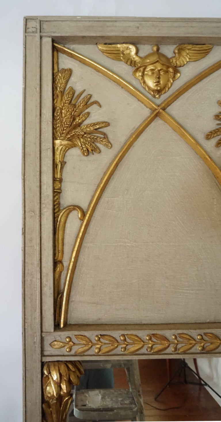 Exceptional French Directoire Trumeau Mirror of Monumental Scale, circa 1800 5