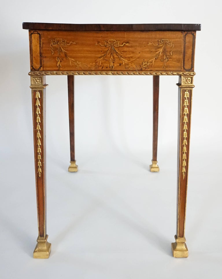 Russian Neoclassical Parcel-Gilt Satinwood and Marquetry Side Table, circa 1785 6