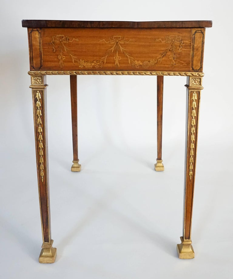 Russian Neoclassical Parcel-Gilt Satinwood and Marquetry Side Table, circa 1785 10