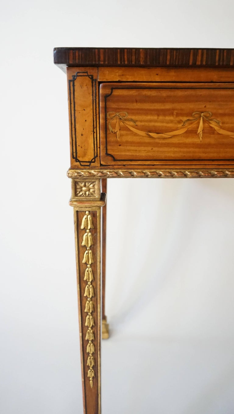 Russian Neoclassical Parcel-Gilt Satinwood and Marquetry Side Table, circa 1785 5