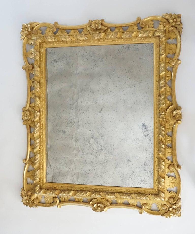 English George II Rococo Style Mirror, England, circa 1830 For Sale