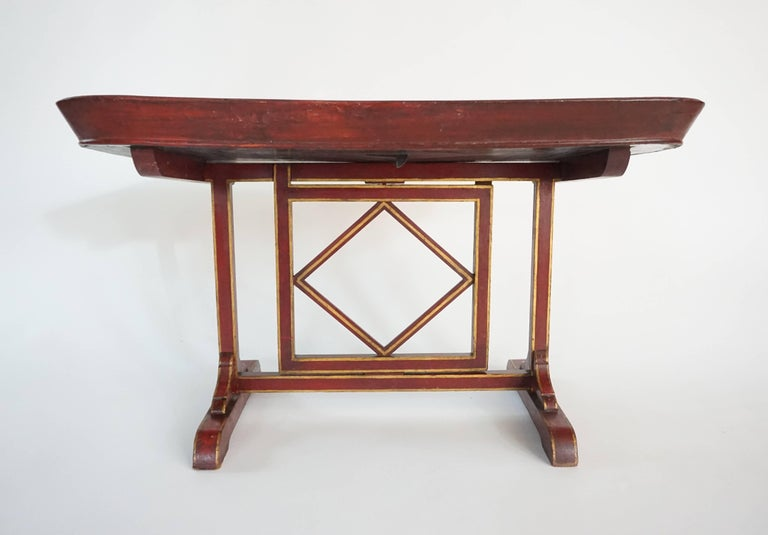 English Regency Papier Mâché Tray Top Low Table / Firescreen, circa 1810 6