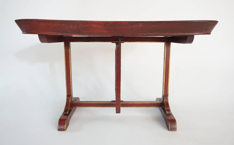 English Regency Papier Mâché Tray Top Low Table / Firescreen, circa 1810 7