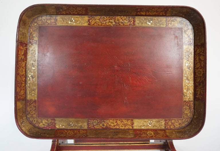English Regency Papier Mâché Tray Top Low Table / Firescreen, circa 1810 2