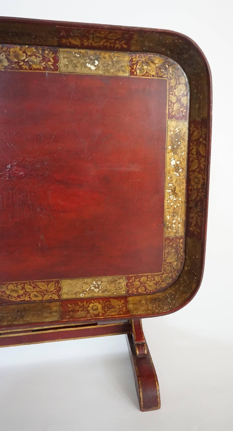 English Regency Papier Mâché Tray Top Low Table / Firescreen, circa 1810 5