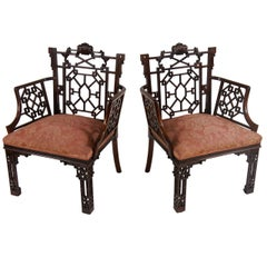 Chinese Chippendale Armchairs, Lord Leverhulme