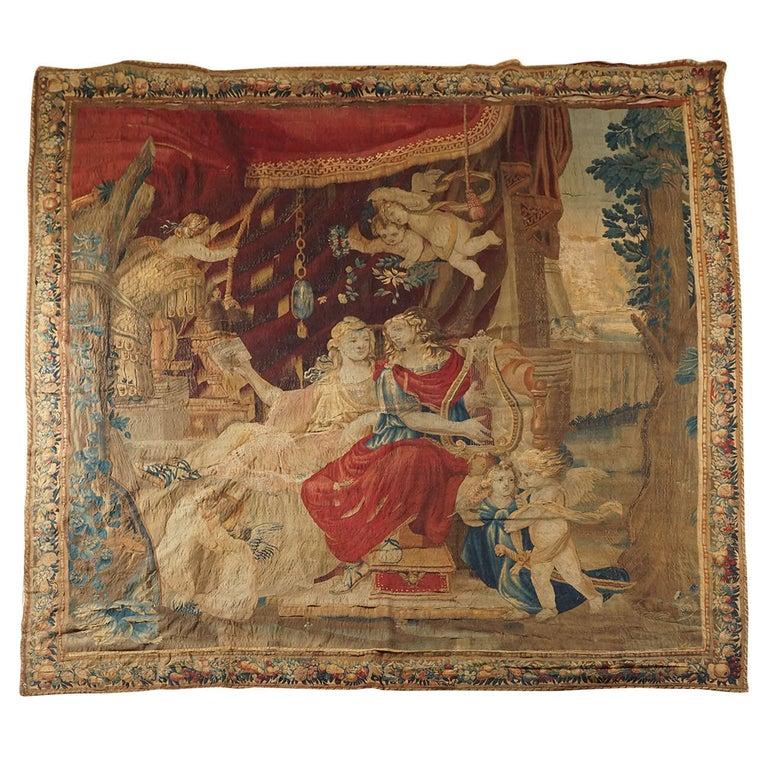 Beauvais Mythological Tapestry of Orpheus and Eurydice, France, circa 1710