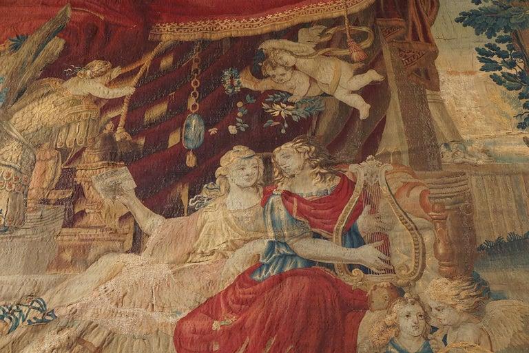 Louis XIV Beauvais Mythological Tapestry of Orpheus and Eurydice, France, circa 1710