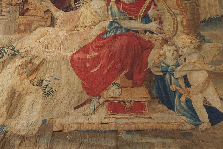 French Beauvais Mythological Tapestry of Orpheus and Eurydice, France, circa 1710