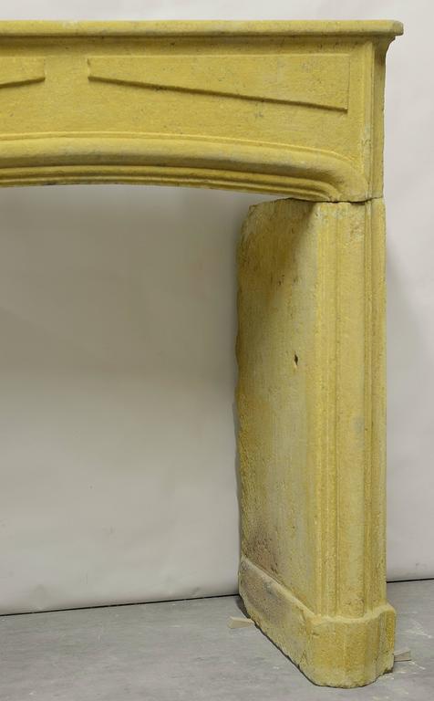 Rustic Limestone Louis XIV Fireplace Mantel For Sale 3