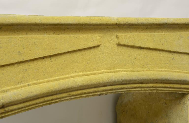 Rustic Limestone Louis XIV Fireplace Mantel For Sale 2