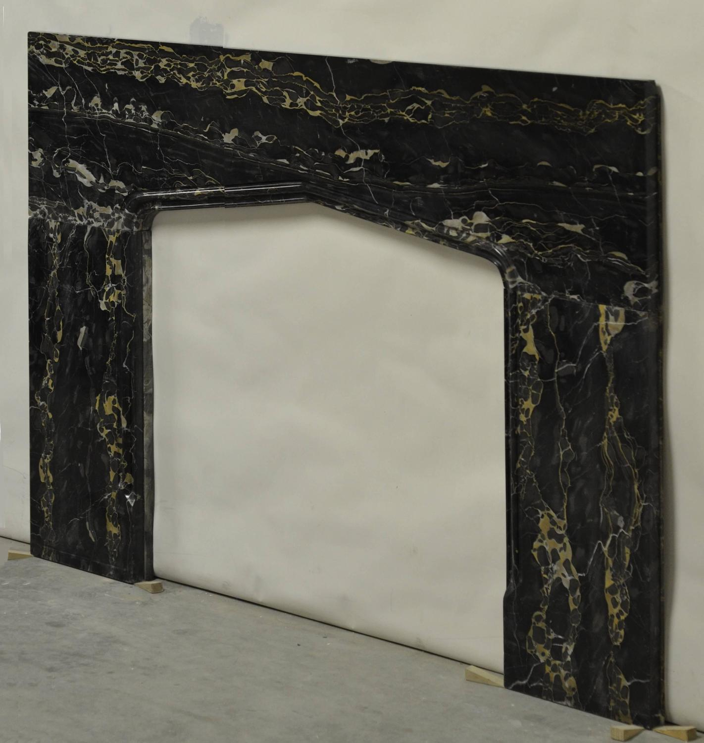 Tudor style fireplace in portoro marble for sale at 1stdibs for Tudor style fireplace