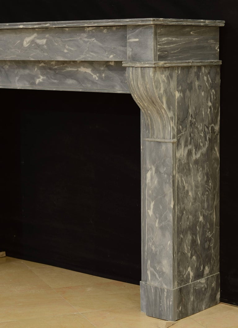 19th Century Lovely Petite French Marble Fireplace For Sale