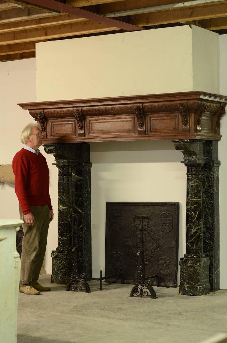 monumental neo renaissance fireplace mantel 19th century