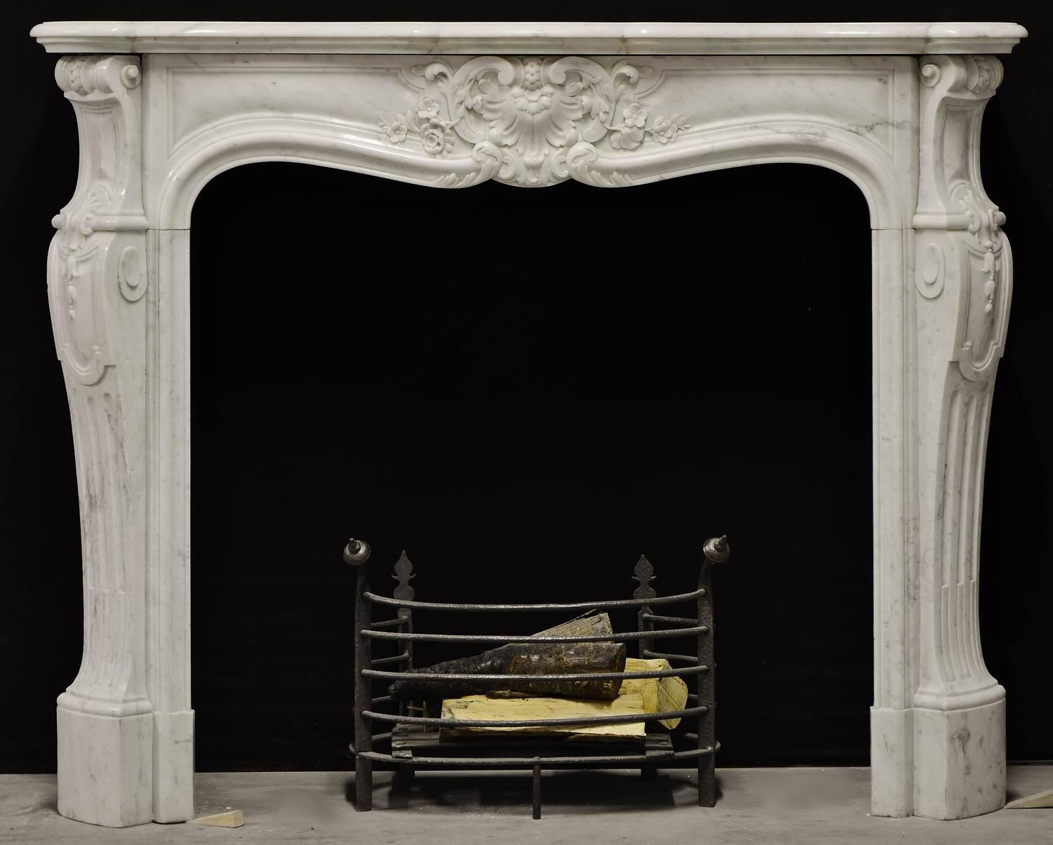 Antique French Louis Xv Rococo Style Fireplace Surround At 1stdibs
