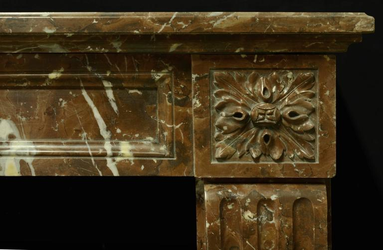 Lovely and elegant small Louis XVI Fireplace, 19th century France.    Opening measurements: 35.4 x 40.5 inch. (90 x 103 cm) height x width. Excellent condition, ready for installation.